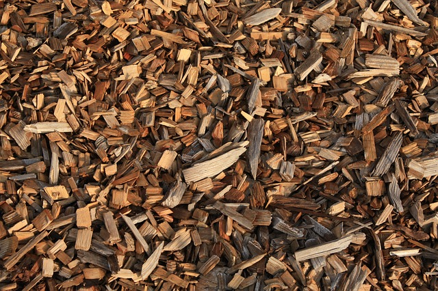 Perfect gardening idea number three, use wood chips to add ground cover