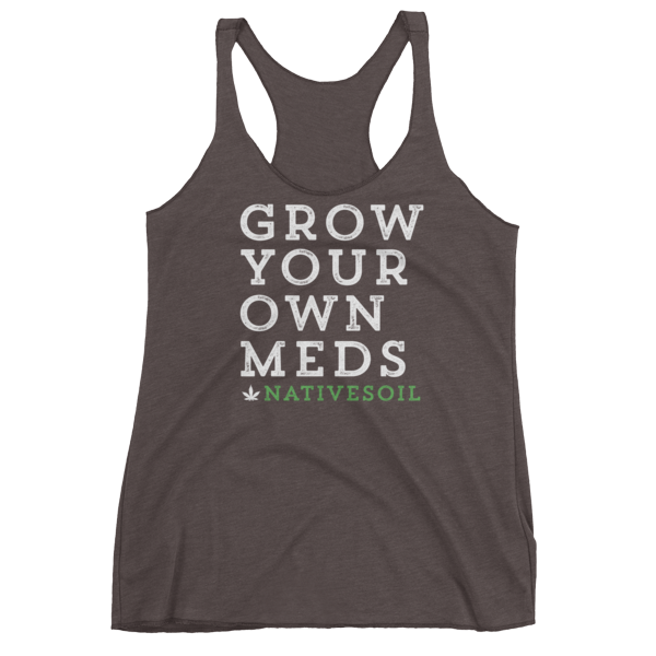 """Soft Poly Cotton """"Grow Your Own"""" Racerback"""